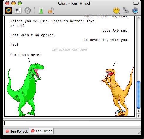 I Am Free Now Dinosaur Comic message...